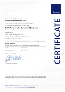 Bluesign certificate 2018-2019 (Yu shin)_加黑框
